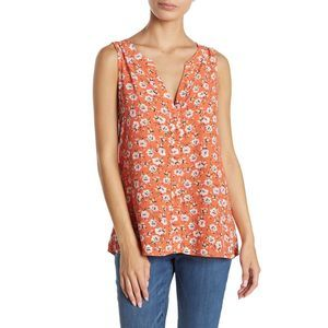 Sanctuary Craft Floral V-Neck Sleeveless Size M